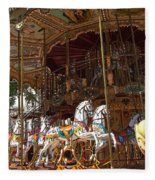The Original French Carousel Fleece Blanket