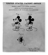 The Original Mickey Mouse Patent Design Fleece Blanket