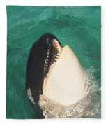 The Original Shamu Orca Whale At Sea World San Diego California 1967 Fleece Blanket