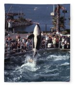 The Original Shamu Orca Sea World San Diego 1967 Fleece Blanket