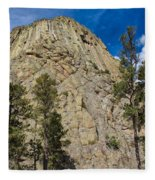 The Other Side Of Devils Tower Fleece Blanket