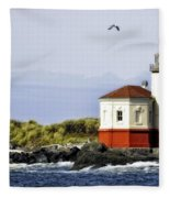 The Other Side Of The Coquille River Fleece Blanket