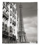 The Other View Of The Eiffel Tower Fleece Blanket