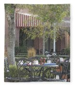 The Outdoor Cafe Fleece Blanket