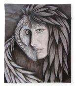 The Owl In Me Fleece Blanket