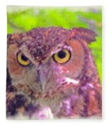 The Owl... Fleece Blanket