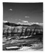The Painted Hills Bw Fleece Blanket