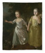 The Painter's Daughters Chasing A Butterfly Fleece Blanket