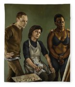 The Painting Fleece Blanket
