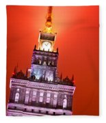 The Palace Of Culture And Science Warsaw Poland  Fleece Blanket