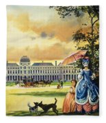 The Palace Of The Tuileries Fleece Blanket