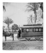 The Palm Beach Trolley Fleece Blanket