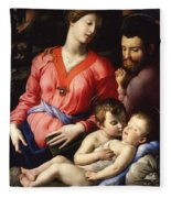 The Panciatichi Holy Family Fleece Blanket