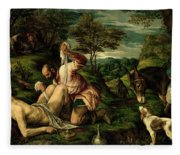 The Parable Of The Good Samaritan Fleece Blanket