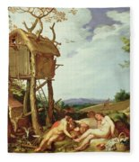 The Parable Of The Wheat And The Tares Fleece Blanket