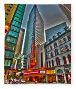 The Paramount Center And Opera House In Boston Fleece Blanket
