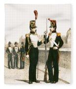 The Parisian Municipale Guard, Formed 29th July 1830 Coloured Engraving Fleece Blanket