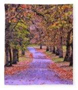 The Park In Autumn Fleece Blanket