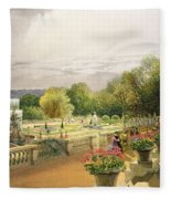 The Parterre Harewood House Near Leeds Fleece Blanket