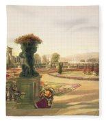The Parterre  Trentham Hall Gardens Fleece Blanket