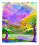 Misty Mountains, Fall Color And Aspens Fleece Blanket