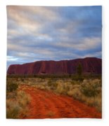 The Path To Red Fleece Blanket