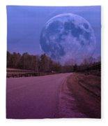The Peace Moon  Fleece Blanket
