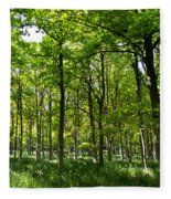 The Peaceful Forest  Fleece Blanket