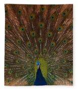 The Peacock 2 Fleece Blanket