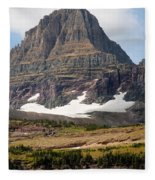 The Peak At Logans Pass Fleece Blanket