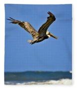 The Pelican And The Sea Fleece Blanket