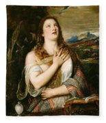 The Penitent Magdalene Fleece Blanket