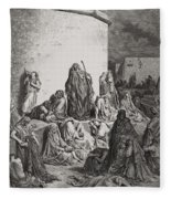 The People Mourning Over The Ruins Of Jerusalem Fleece Blanket