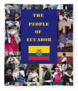 The People Of Ecuador Collage Fleece Blanket