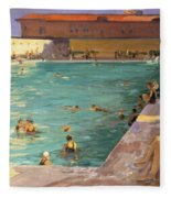 The Peoples Pool, Palm Beach, 1927 Fleece Blanket