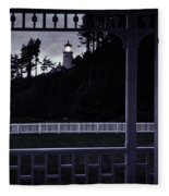 The Perfect Frame For The Heceta Lighthouse Fleece Blanket