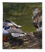 The Perfect Mallard Couple Fleece Blanket