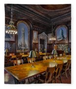 The Periodicals Room At The New York Public Library Fleece Blanket
