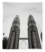 The Petronas Towers Malaysia Fleece Blanket