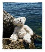 The Philosopher - Teddy Bear Art By William Patrick And Sharon Cummings Fleece Blanket