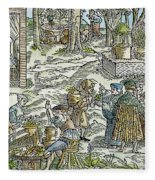 The Physic Garden, 1531 Fleece Blanket