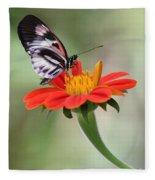 The Piano Key Butterfly Fleece Blanket