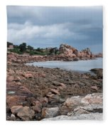 The Pink Granite Coast Brittany Fleece Blanket