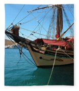 The Pirate Ship  Fleece Blanket