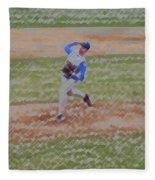 The Pitcher Digital Art Fleece Blanket