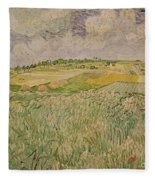 The Plain At Auvers Fleece Blanket