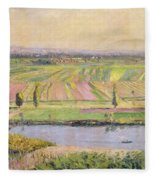 The Plain Of Gennevilliers From The Hills Of Argenteuil Fleece Blanket