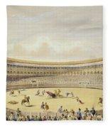 The Plaza De Toros Of Madrid, 1865 Fleece Blanket