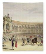 The Plaza Of Seville, 1865 Fleece Blanket
