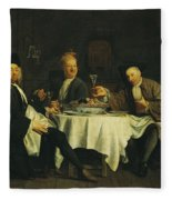 The Poet Alexis Piron 1689-1773 At The Table With His Friends, Jean Joseph Vade 1720-57 And Charles Fleece Blanket